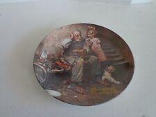Norman Rockwell Decortive Plate - The Cobbler - 1978 - Coa, no box