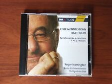 MENDELSSOHN -NORRINGTON -SYMPHONIES Nº3 & Nº4 -HÄNSSLER CLASSIC