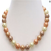 12mm natural multicolor south sea pearl necklace 18 inches Classic Cultured