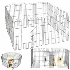 8 PANEL PET PLAYPEN DOG PUPPY RABBIT PORTABLE CAGE RUN PEN FOLDING FENCE FLOOR