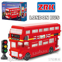 London Double Decker Red Bus Building Bricks Construction Blocks Toy Set
