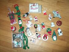 lot 25 vintage modern ceramic christmas tree ornaments santa rocking horse other