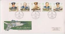 GB ROYAL MAIL FDC 1986 RAF STAMP SET FARNBOROUGH PMK