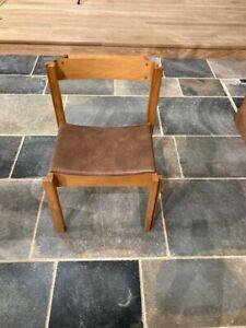 42 wooden church chairs