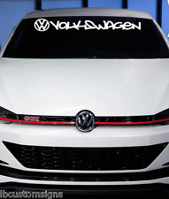 VW Volkswagen Windshield Letter Decal Sticker jetta gti vw buggy beetle 32x4.2""