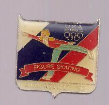 1992 Albertville Figure Skating Olympic Pin USA USOC