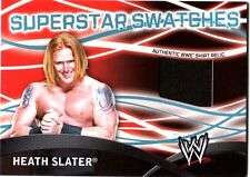 WWE Heath Slater Topps 2011 Superstar Swatches Event Used Shirt Relic Card FD