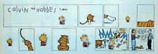 Calvin and Hobbes by Watterson - color Sunday comic page - VFn - March 24, 1991