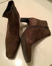 Gabor Brown Suede Ankle Boots UK3 EU36 Very Good Used Condition