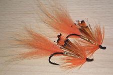 Salmon seatrout ....2 orange & gold shrimps kamasan b190 size 1/0