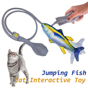 Fish Toys Cat Flopping Kitty Pet Interactive Chewing Realistic Plush Molar Toy