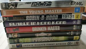 8 DVD Jackie Chan MOVIES (Pick up welcome)