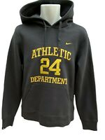 New Vintage NIKE Athletic Dept 24 Graphic Cotton Pullover Hoodie Charcoal Grey M