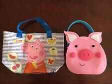 Mini Peppa Pig shopper bag & mini felt pig bag