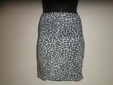Leopard Print Short Sarong Wrap Skirt. *Black/White*