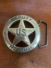 Deputy Shérif Buckle Avec Marshall étoile boucle de ceinture western