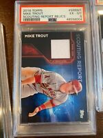 2016 Topps Scouting Report Relics Srrmt Mike Trout [PSA 6]