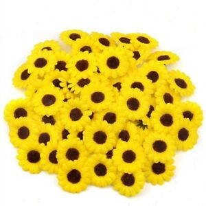 Mini Silk Sunflower Artificial Daisy Flower Head For Wedding Party Decoration