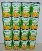 (Lot of 16 Cans) GREEN GIANT Whole Kernel Sweet Corn - Net Wt 15.25 oz (432g) ea