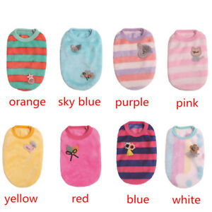 XXXS XXS XS Teacup Dog Clothes Yorkie Chihuahua Small Pet Coat Cat Puppy Sweater