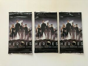 3 NEW RITTENHOUSE HEROES ARCHIVES PACKS * HAYDEN PANETTIERE * AUTOGRAPHS? NO BOX