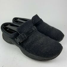 Womens MERRELL Encore Groove Wool Black Suede Slip On Mules Clogs Size 9