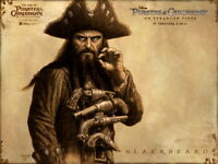 BLACKBEARD Art Pirates Caribbean Wall Print POSTER US