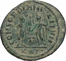 DIOCLETIAN receiving Victory on globe from  JUPITER  Ancient Roman Coin  i47020