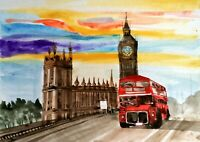 "LIMITED EDITION GICLEE  PRINTS ""LONDON CITY BUS ""  SIGNED By ARTIST"
