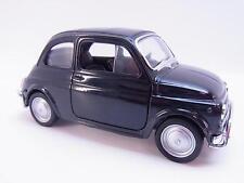 27616 | Welly 43606 Fiat Nuova 500 schwarz Modellauto mit Antrieb 1:40 Neu