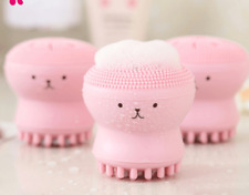 New Silicone Cute Octopus Face Cleaner Massage Face Cleansers Spot Acne Sponge