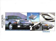 Volvo 480 Accessories Original UK Brochure circa 1988 Pub. No. 90009108-3
