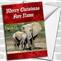 Elephant Personalized Christmas Card