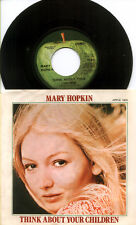 BEATLES Re: MARY HOPKIN 1970 Think About Your Children 45 & PS PICTURE SLEEVE