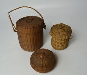 African Tribal Art fine Group vintage zandi basketry items Azande Congo