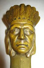 """Antique Bronze Indian Desk Art Letter Knife Opener Paper Clip Holder Germany 12"""""""