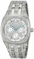 Bulova 96C002 40MM Men's Chronograph Crystal Stainless Steel Watch