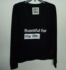 NWT PEACE LOVE WORLD Graphic Print Comfy Knit Top Sweatshirt Choose Color Size