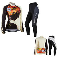 Women's  Long Sleeve Clothing Bicycle Set Suit Jersey Sports Cycling Bike Pants