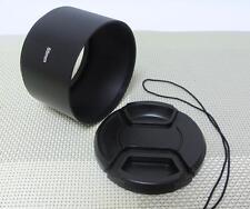 55 mm Metal Camera Lens Hood + 58 mm Cap for Tele Lens 55TC58
