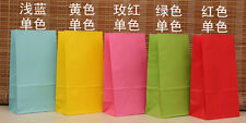 50 pcs Candy Solid Color Small Paper Gift Bag Food Bag,Party Festival Faver bag
