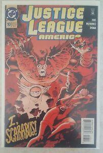 DC JUSTICE LEAGUE COMIC AMERICA #93 w BAG & BOARD I SCARABUS