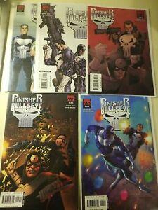COMPLETE Punisher vs Bullseye #1 2 3 4 5 (2005 Mini-Series Marvel) Steve Dillon