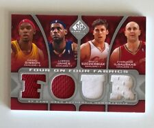 2009-10 SP Authentic Game Used Jersey #12/99 Four on Four (x2) LeBron James + 7