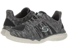 $295 SKECHERS Women GRAY STUDIO BURST MEMORY FOAM LACE UP SNEAKERS SHOES 7.5