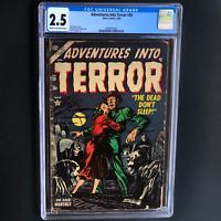 ADVENTURES INTO TERROR #30 (Atlas 1954) 💥 CGC 2.5 C-OW 💥 ONLY 13 in CENSUS!