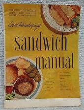 Old 1951 Good Housekeeping Institute Sandwich Manual Recipe Instruction FREE S/H