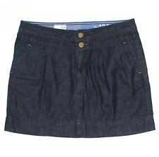 Gap Womens Pleated Blue Mini Skirt Size 4 30x16 Dark Cotton Denim Pockets