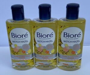 3 - 8 oz BIORE Witch Hazel Pore Clarifying Toner with 2% Salicylic Acid for Acne
