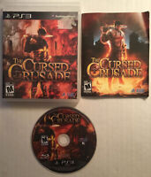 The Cursed Crusade (PS3, 2011) Complete Sony PlayStation ZERO SCRATCHES RARE